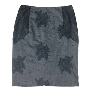 Anthropologie Maeve Lace Pencil Skirt L